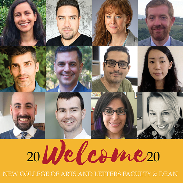 2020 Welcome New Faculty College of Arts and Letters