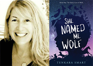 Jennifer Smart and book cover for She Named Me Wolf